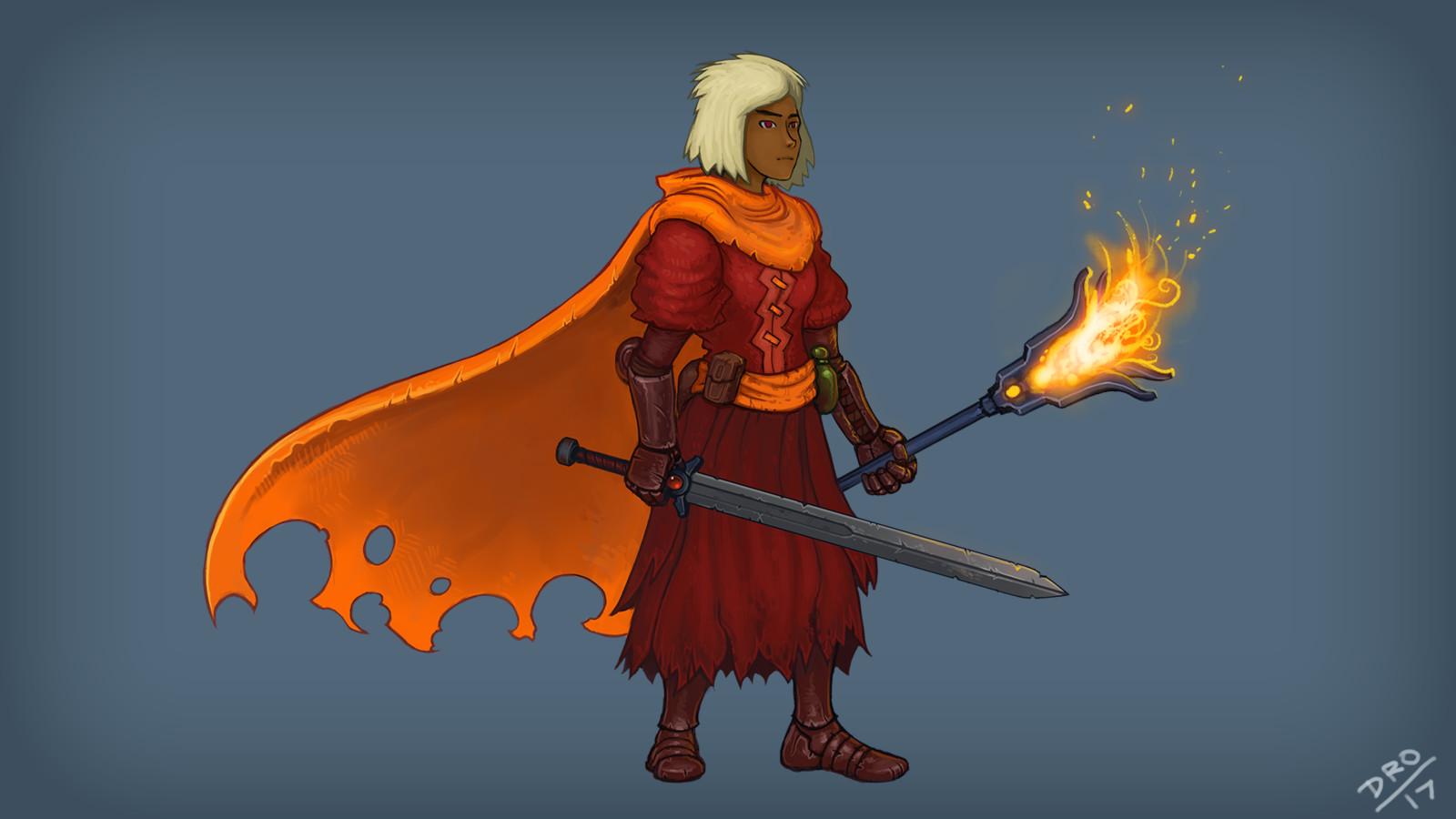 Heroine for dark fantasy project