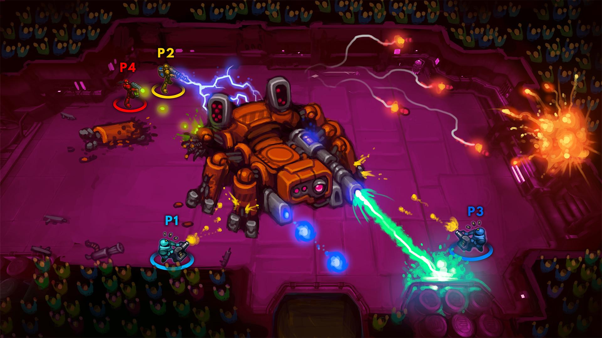 Cyberpunk Arena Game