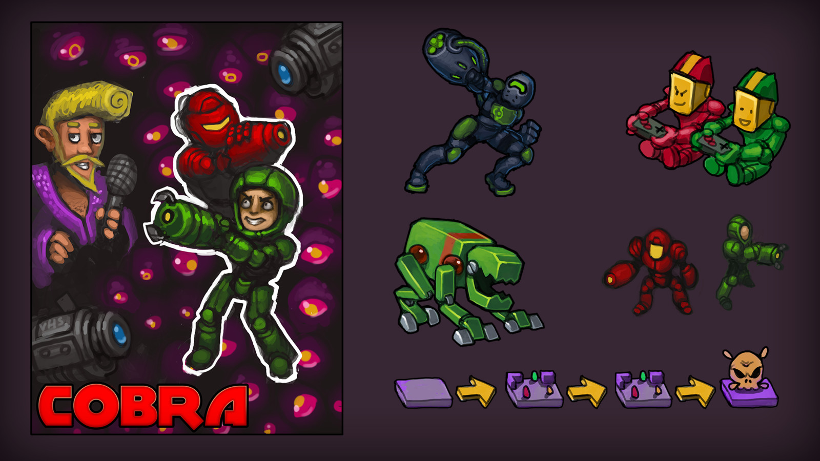 Characters for a Arena battle game