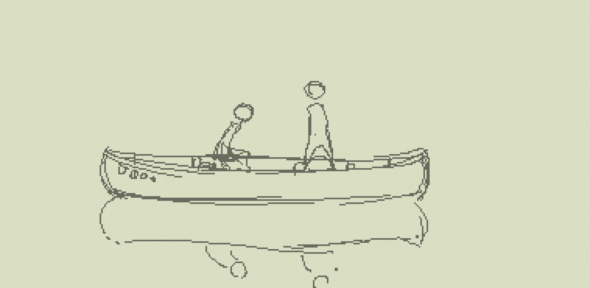 Samuel herb morning canoe sketch
