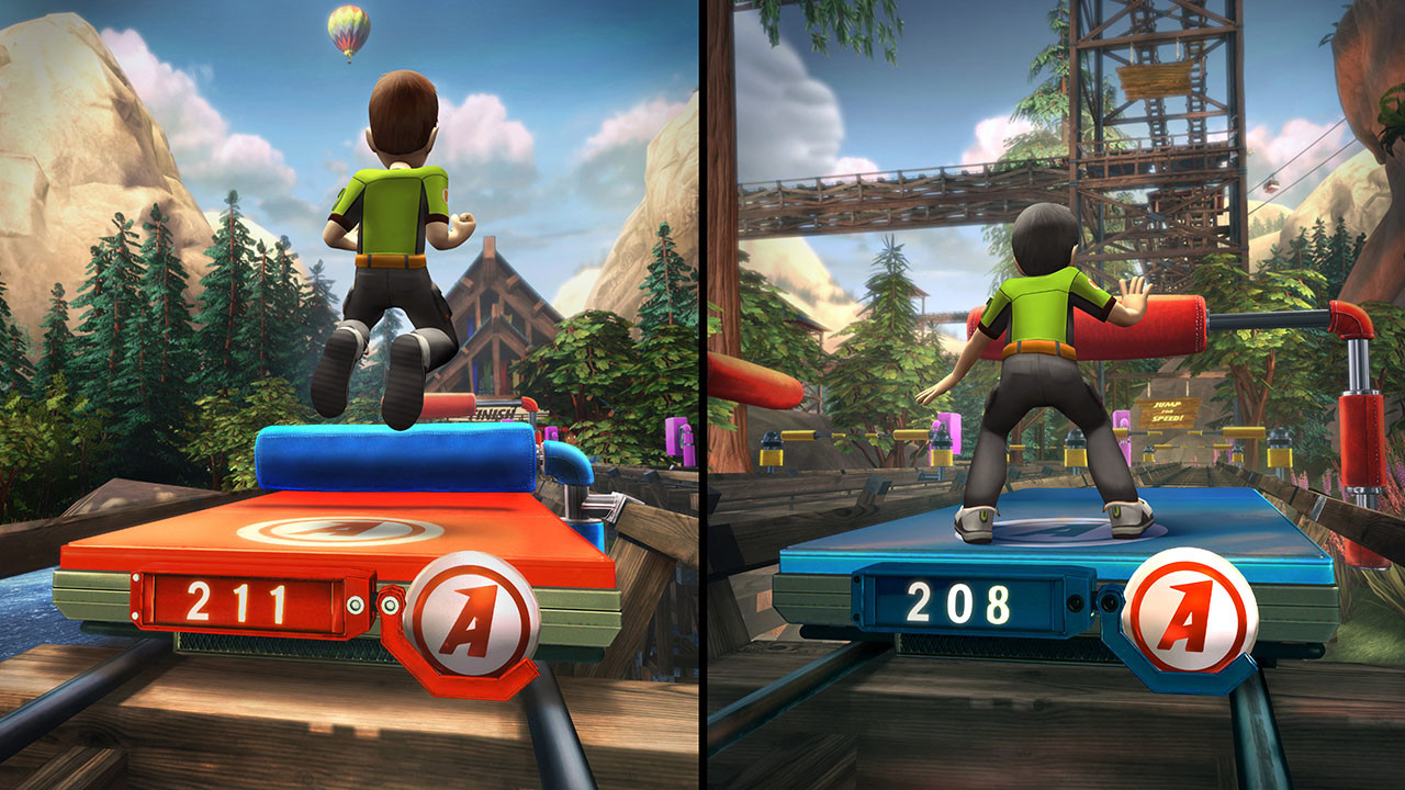 In-game platform and props for Kinect Adventures for Microsoft Game Studios