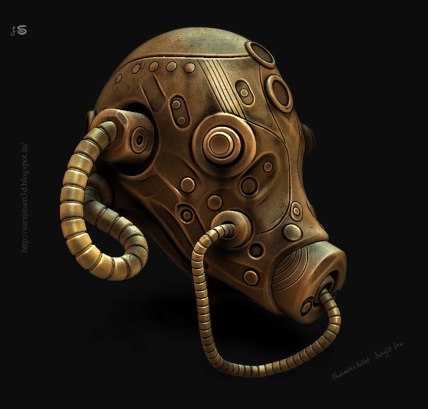 Surajit sen alien gas mask surajitsen a