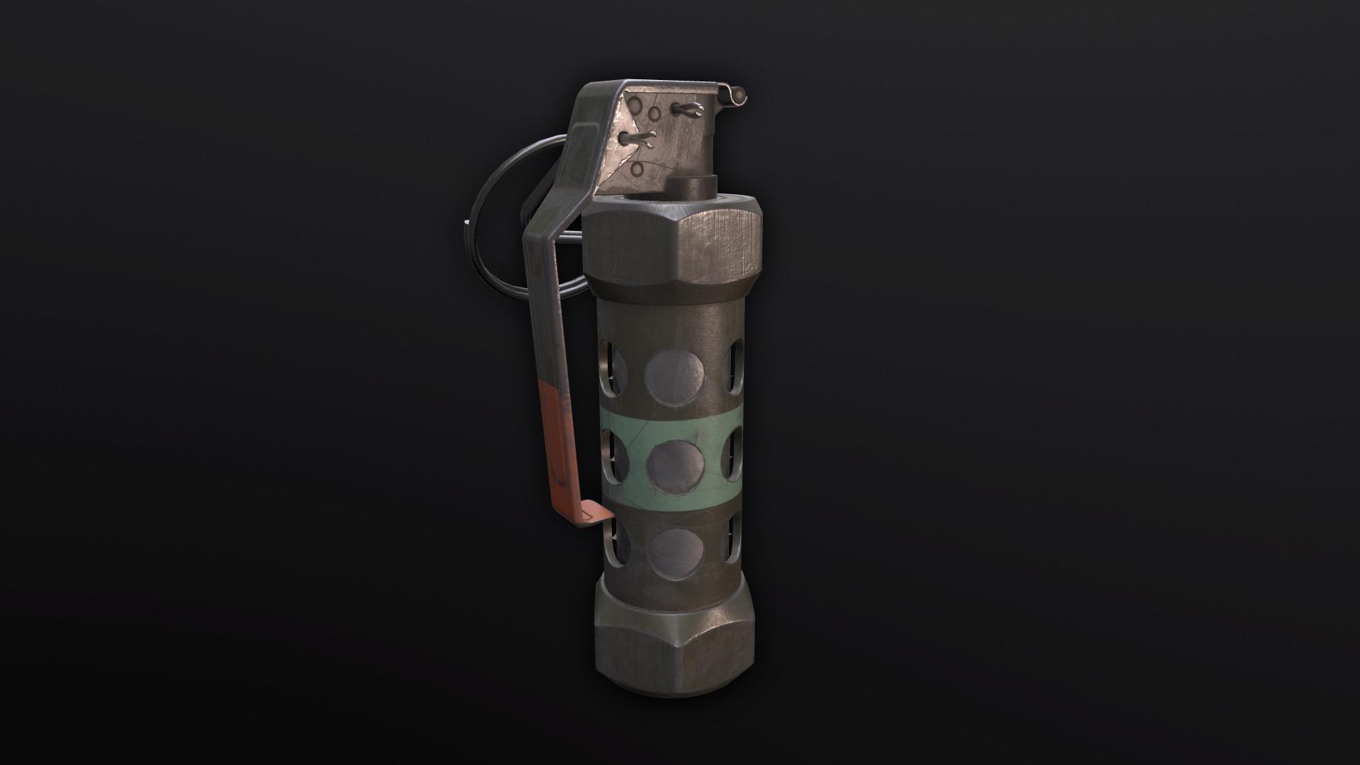 M18 Smoke Grenade, M84 Stun Grenade & M67 Frag Grenade