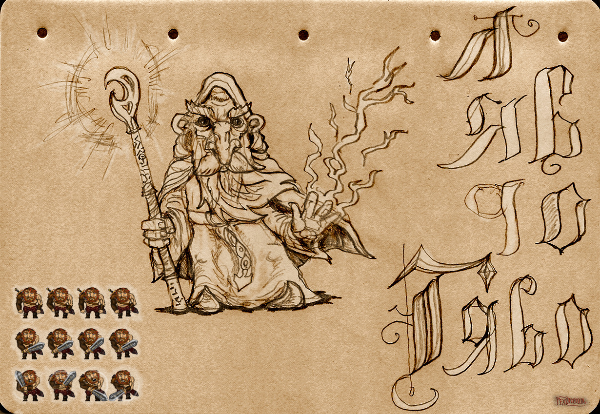 Mage dude and ingame barbarian sprites
