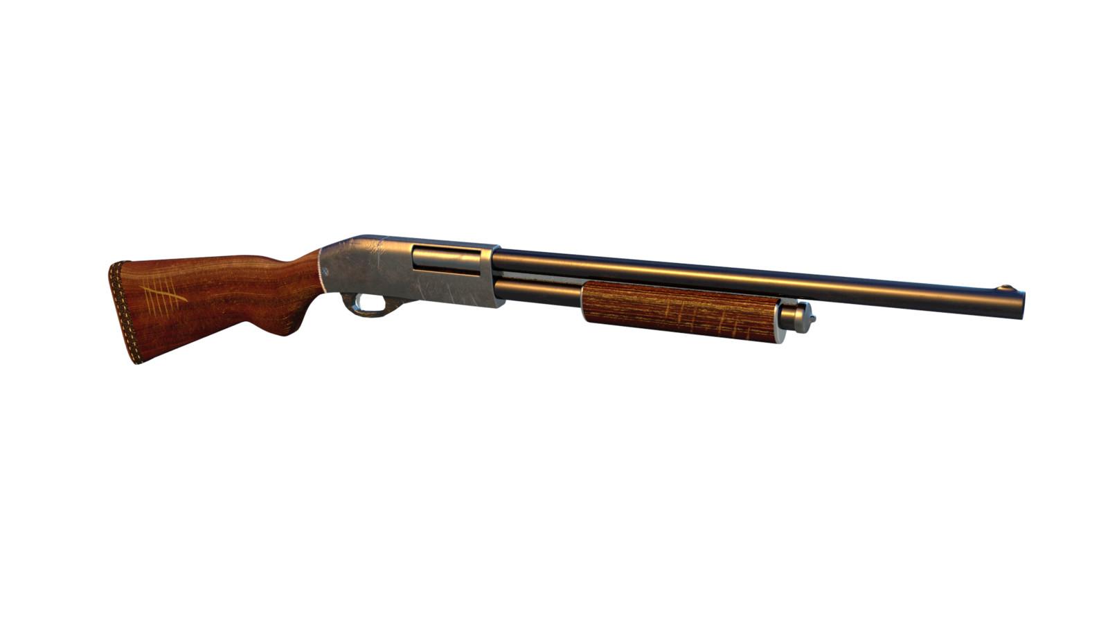 Granny's shotgun, quick modelling and texturing