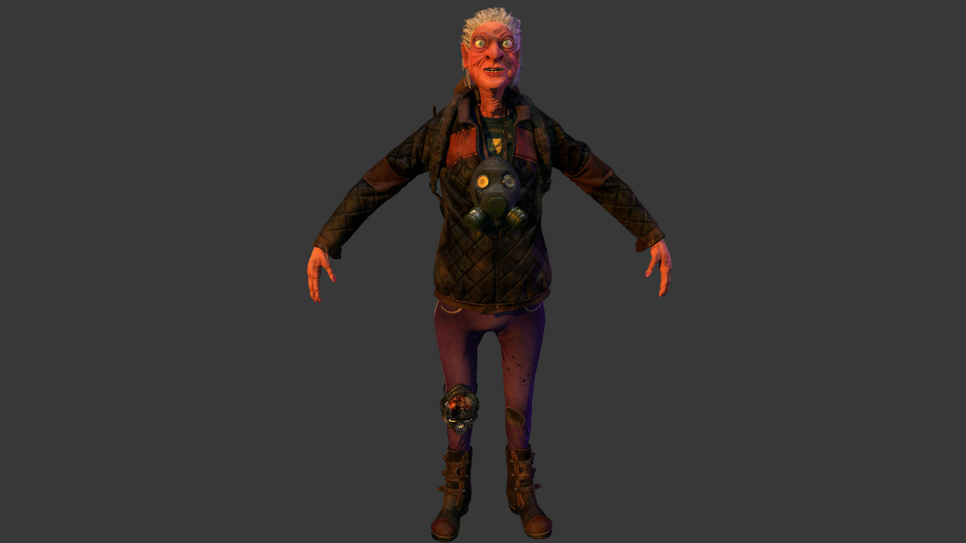 Testing how granny will look like in Maya