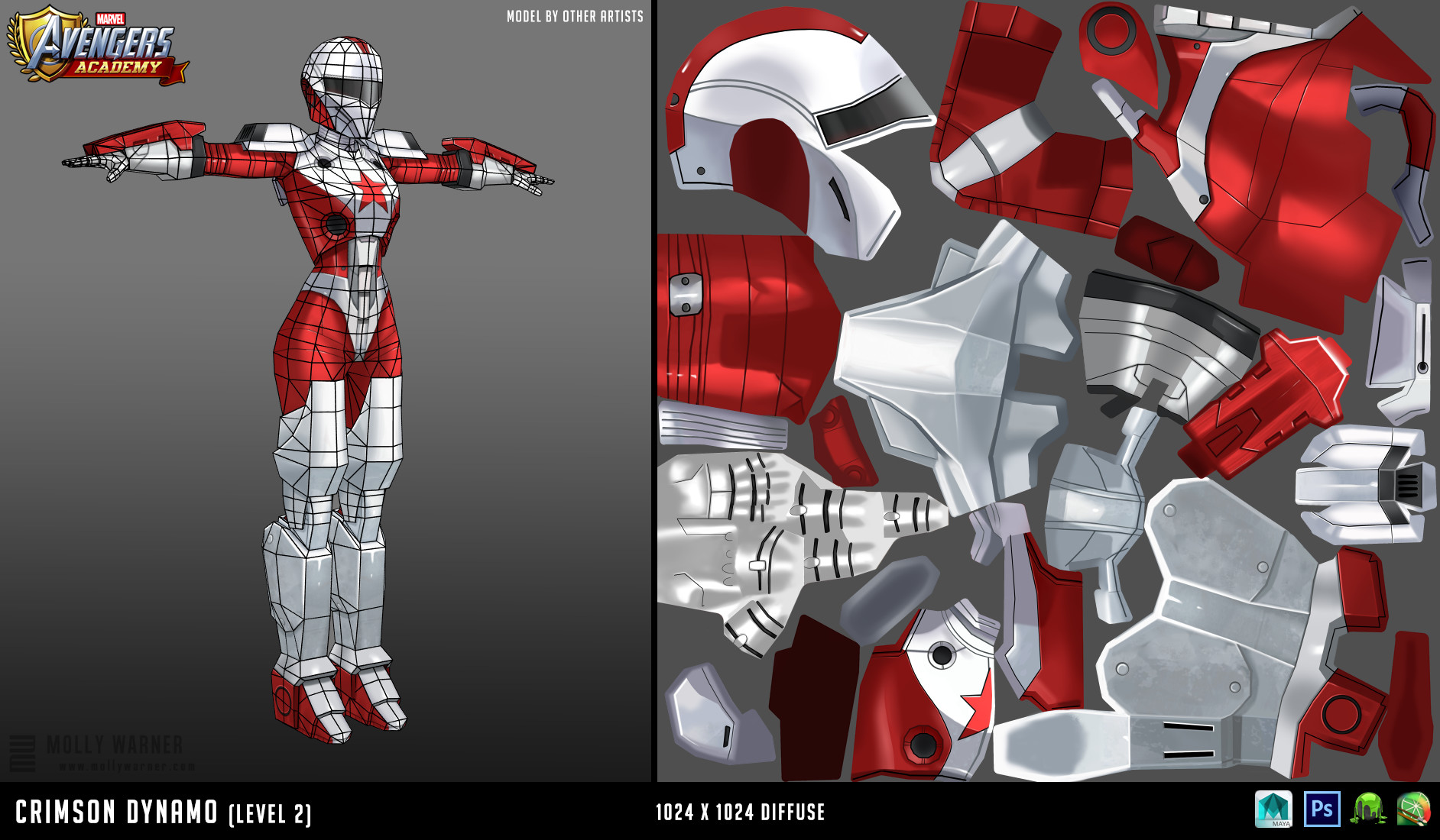 Molly warner 5 crimson dynamo l2 textures wireframe