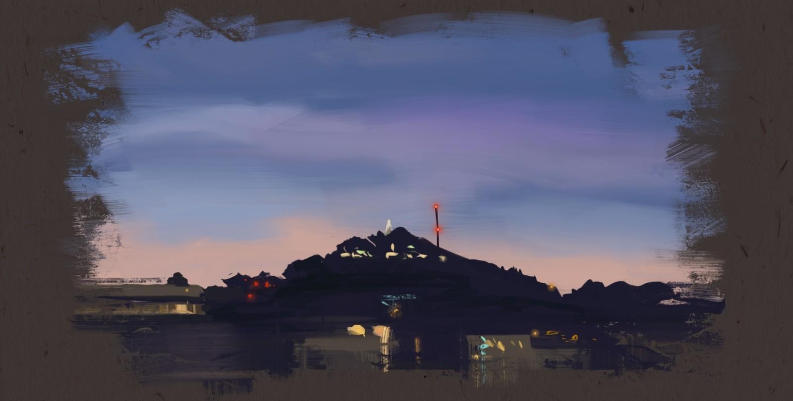 Speed painting Cerro San Cristobal