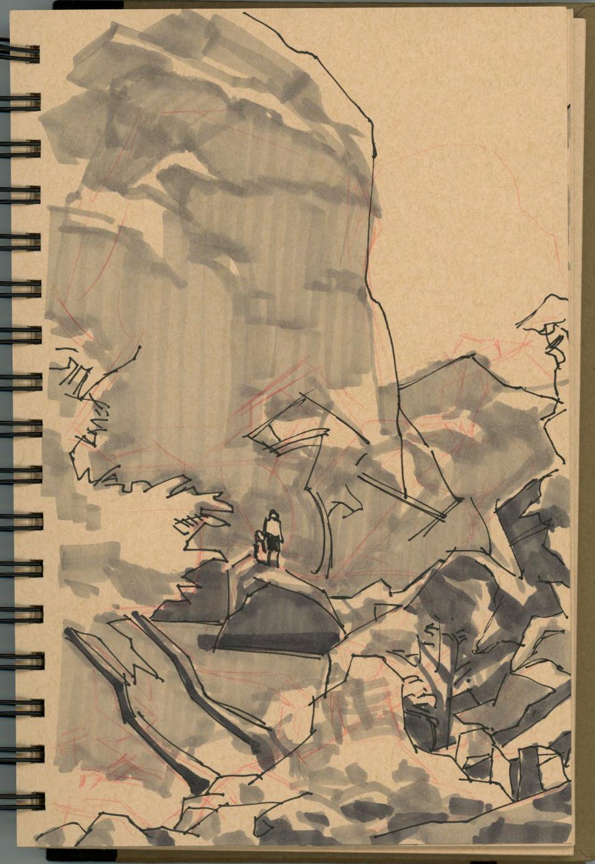 Malibu Creek Park field sketch