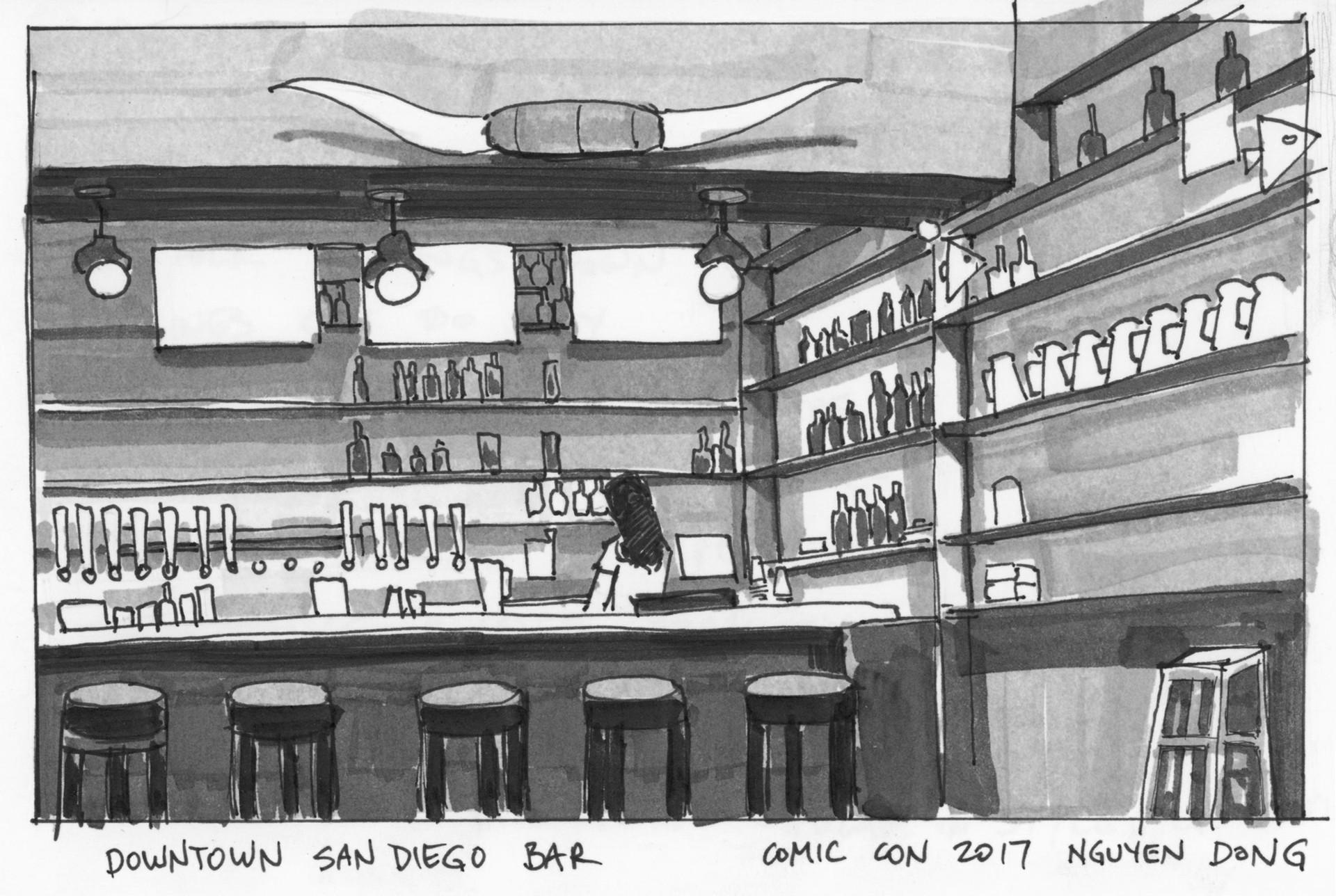 Comic Con 2017 Bar field sketch