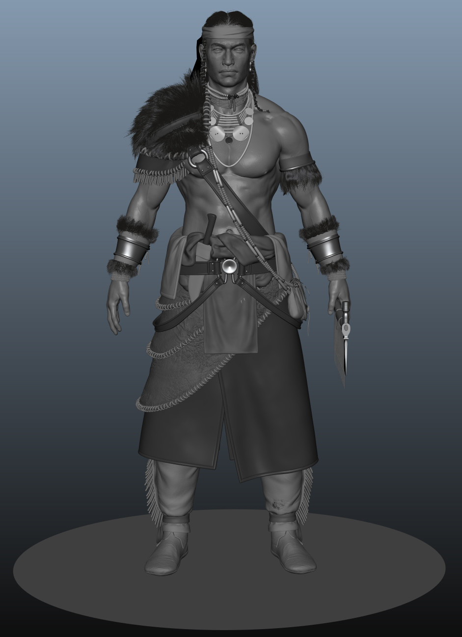 Native Warrior WIP