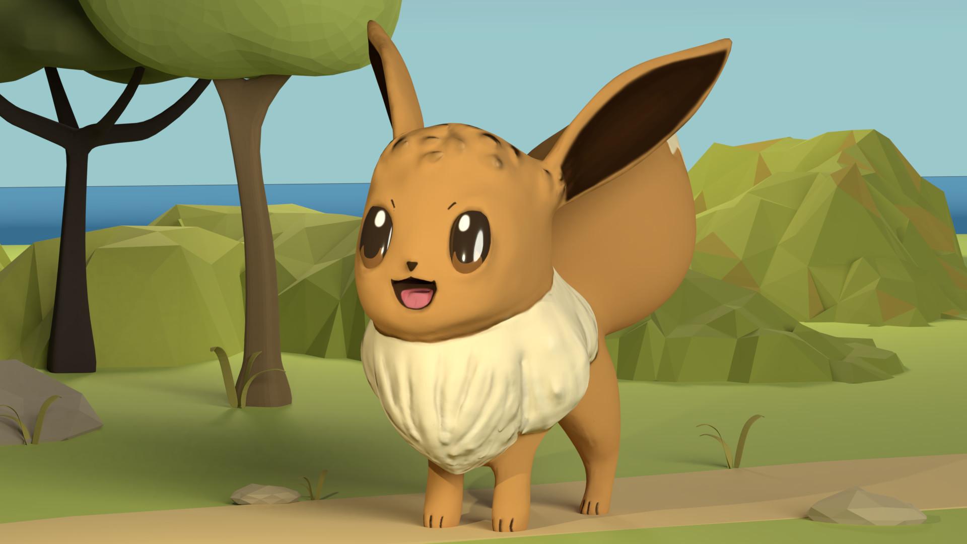 ArtStation - Pokemon 06: Eevee, Katerina Novakova
