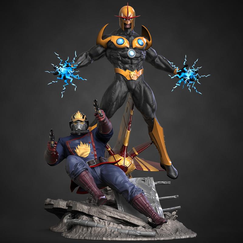 Nova and Starlord