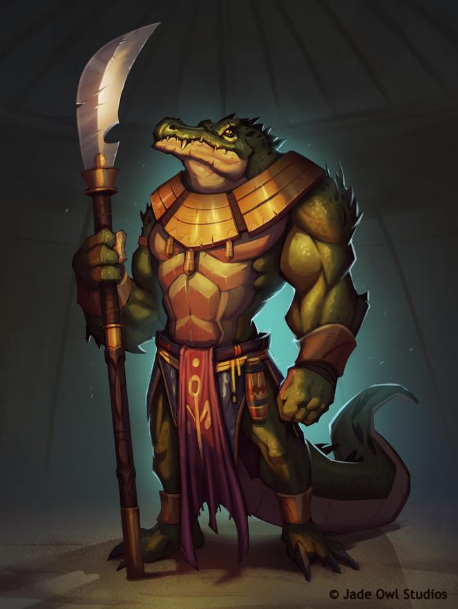 Julien vandois crocodilewarrior jadeowlstudios