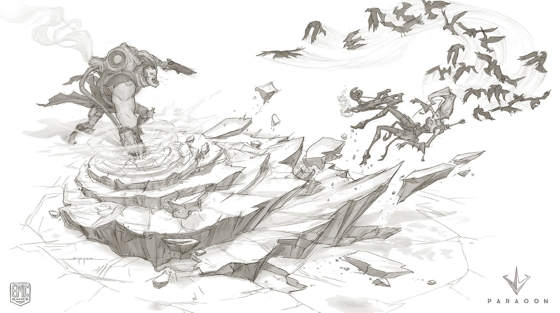 Sketch for scene idea before going for crop in composition