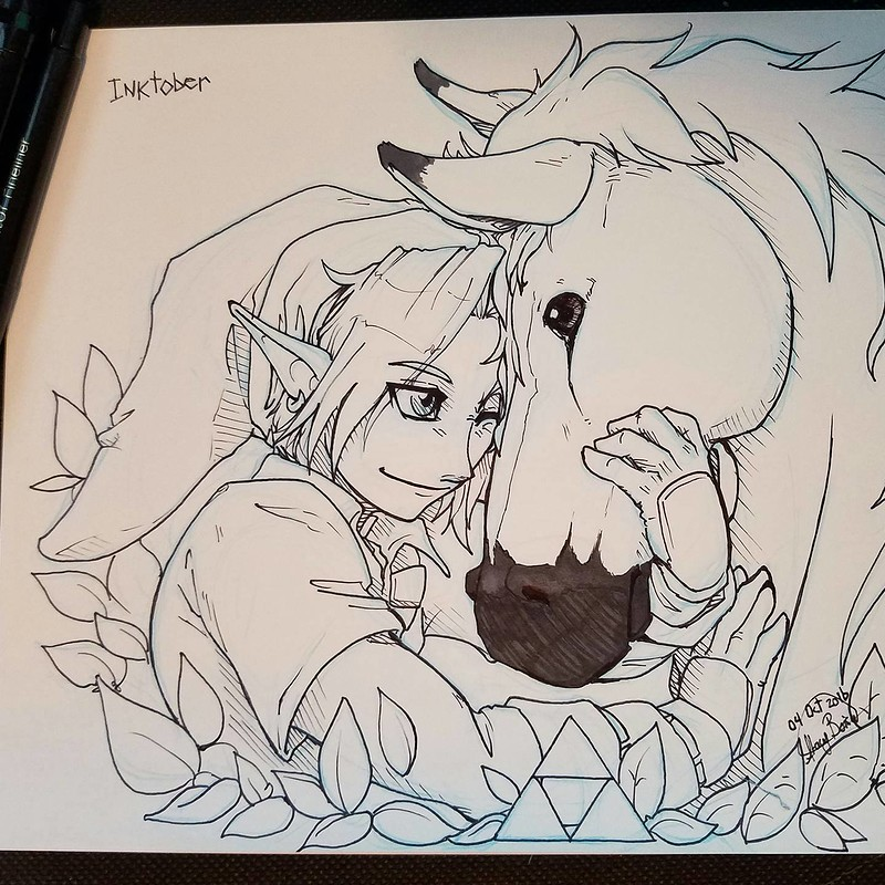 The Legend of Zelda Fan Art - Inktober