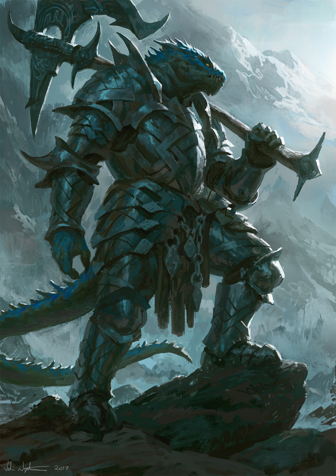 Veli nystrom lizard warrior