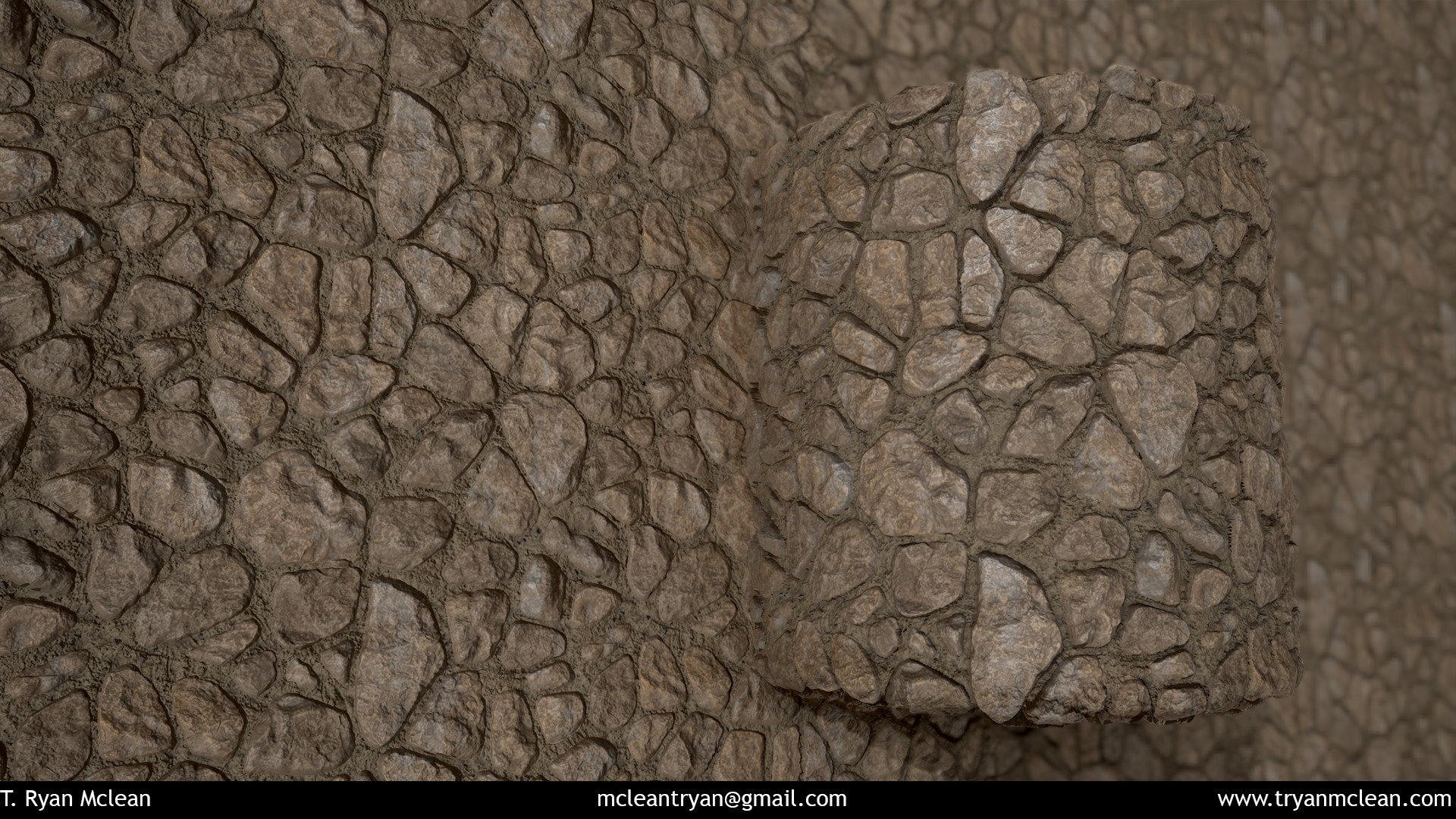 Stone Wall. Created in Substance Designer. Rendered in Marmoset Toolbag.