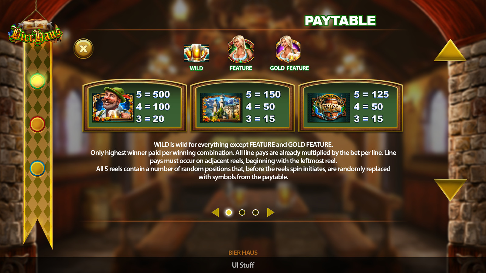 Help Page Mobile UI for BierHaus Game