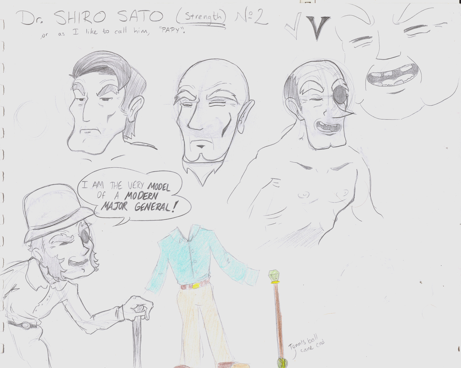 Concept art for a man character. Designed for a video game.