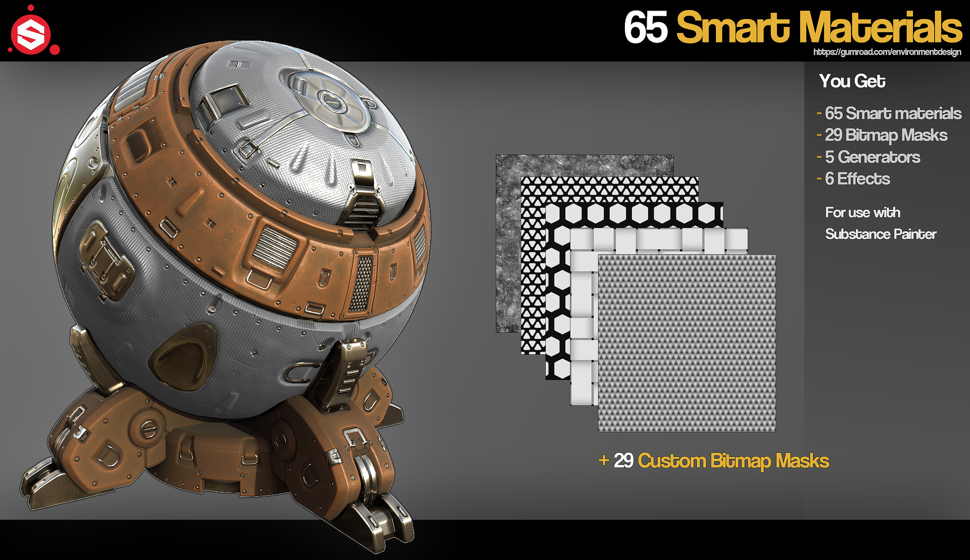 65 Industrial Smart Materials for Substance Painter