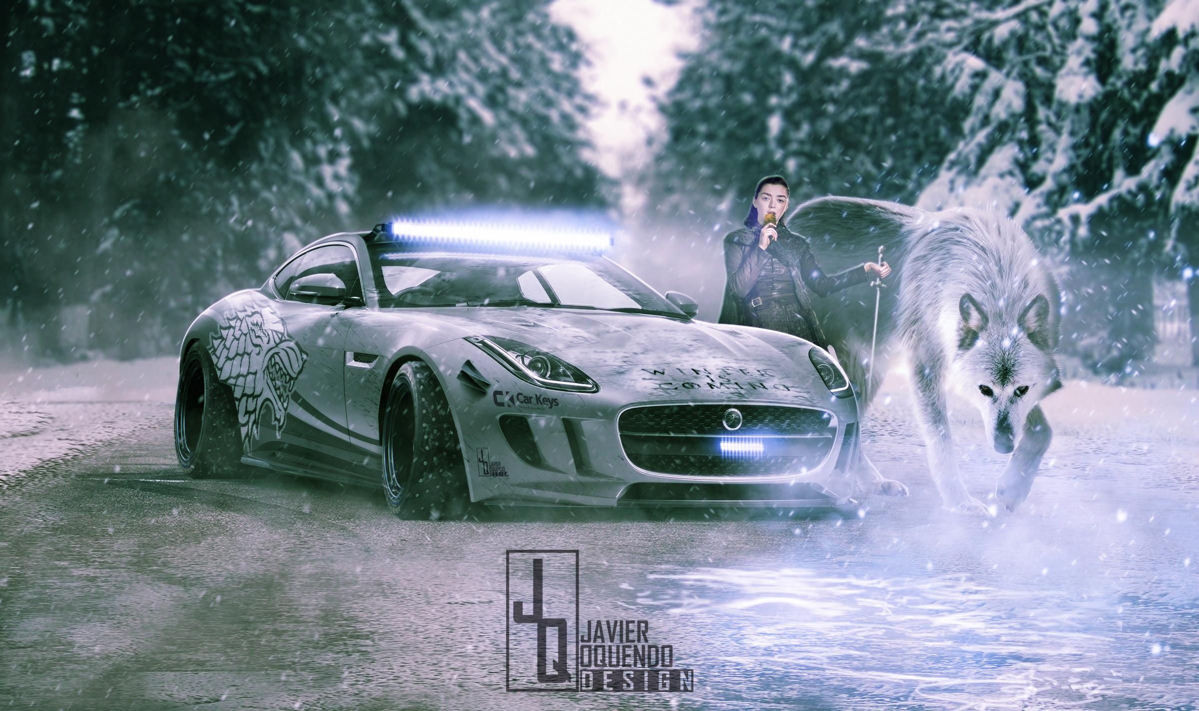 Arya Stark's Jaguar F-Type