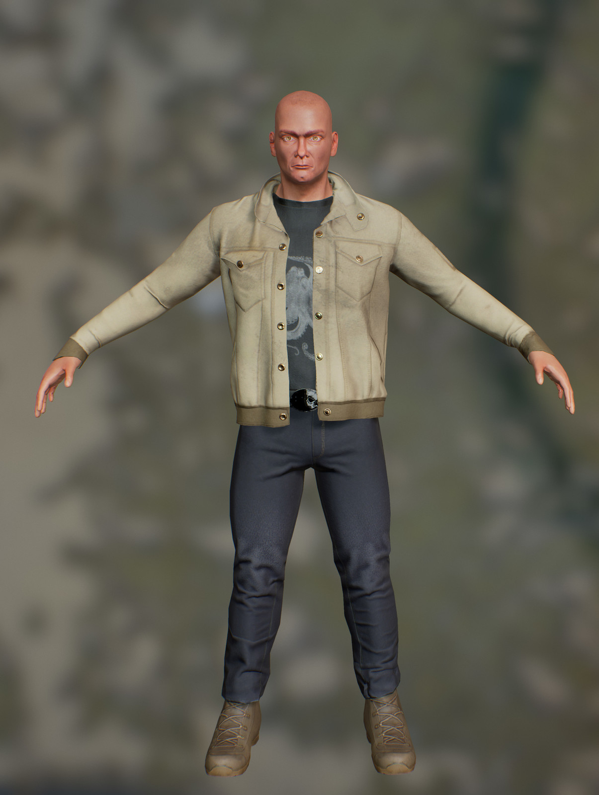 Everett Trapp - Low Poly Character