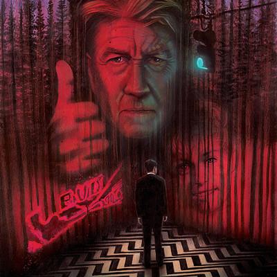 Paul butcher twin peaks etsy poster