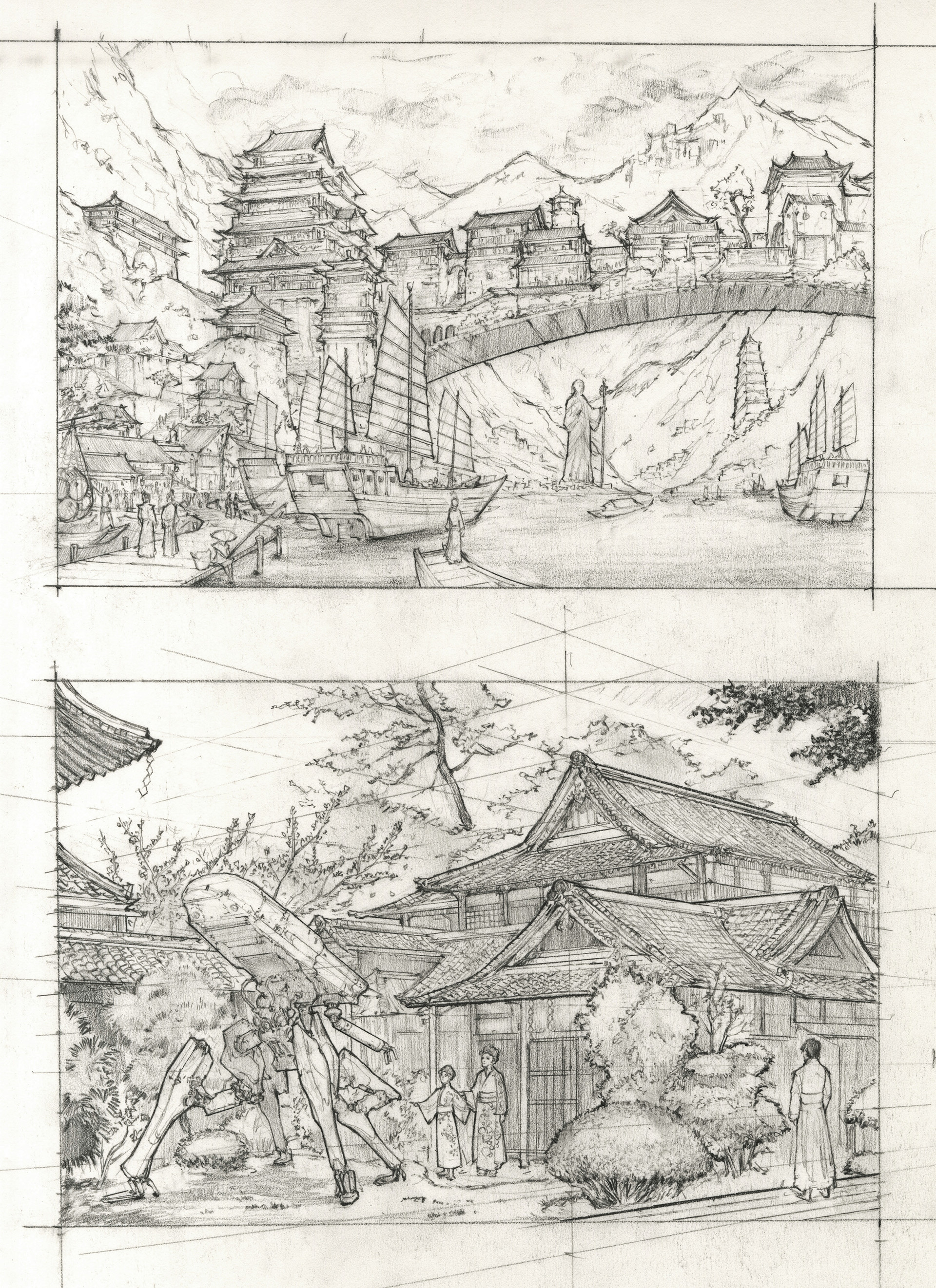 Japanese Architecture Drawing SharePinTweetShare Dunhuang Chen Final Scan 1