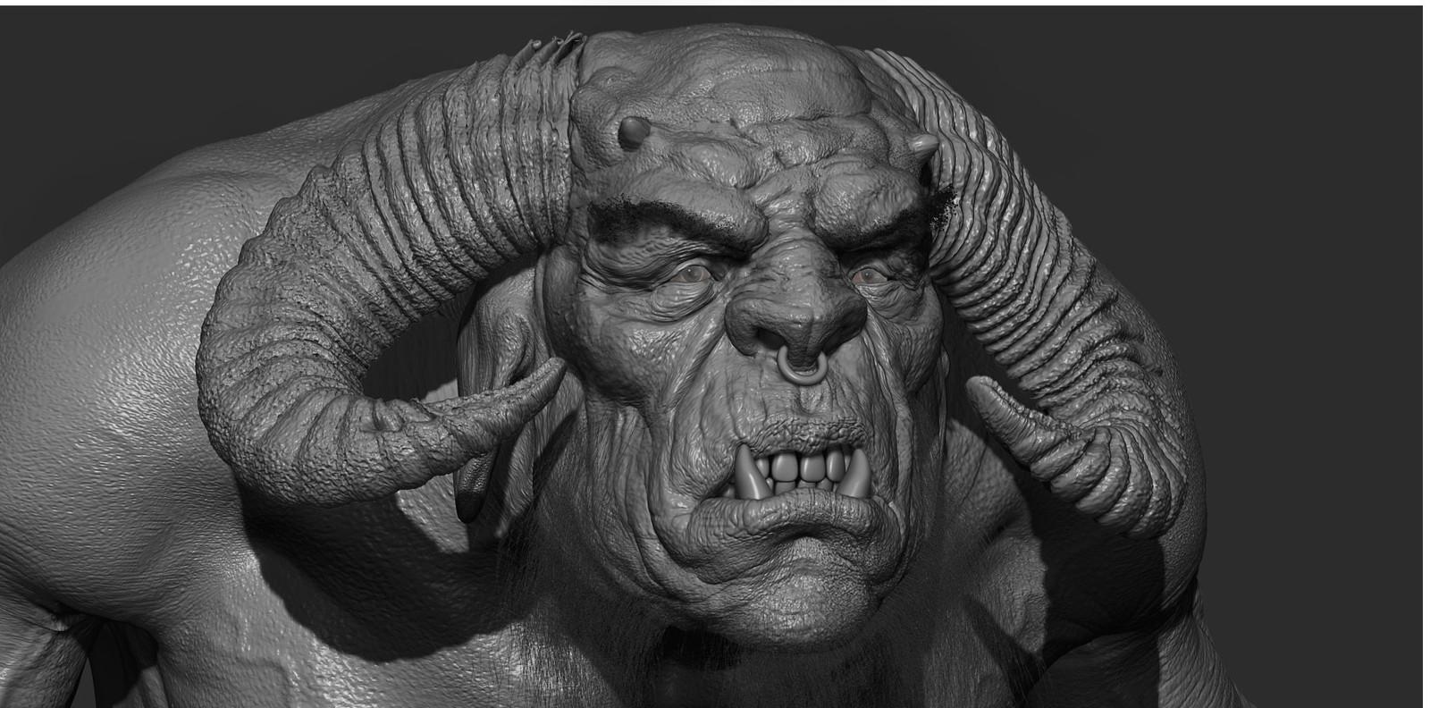 Beast clay render