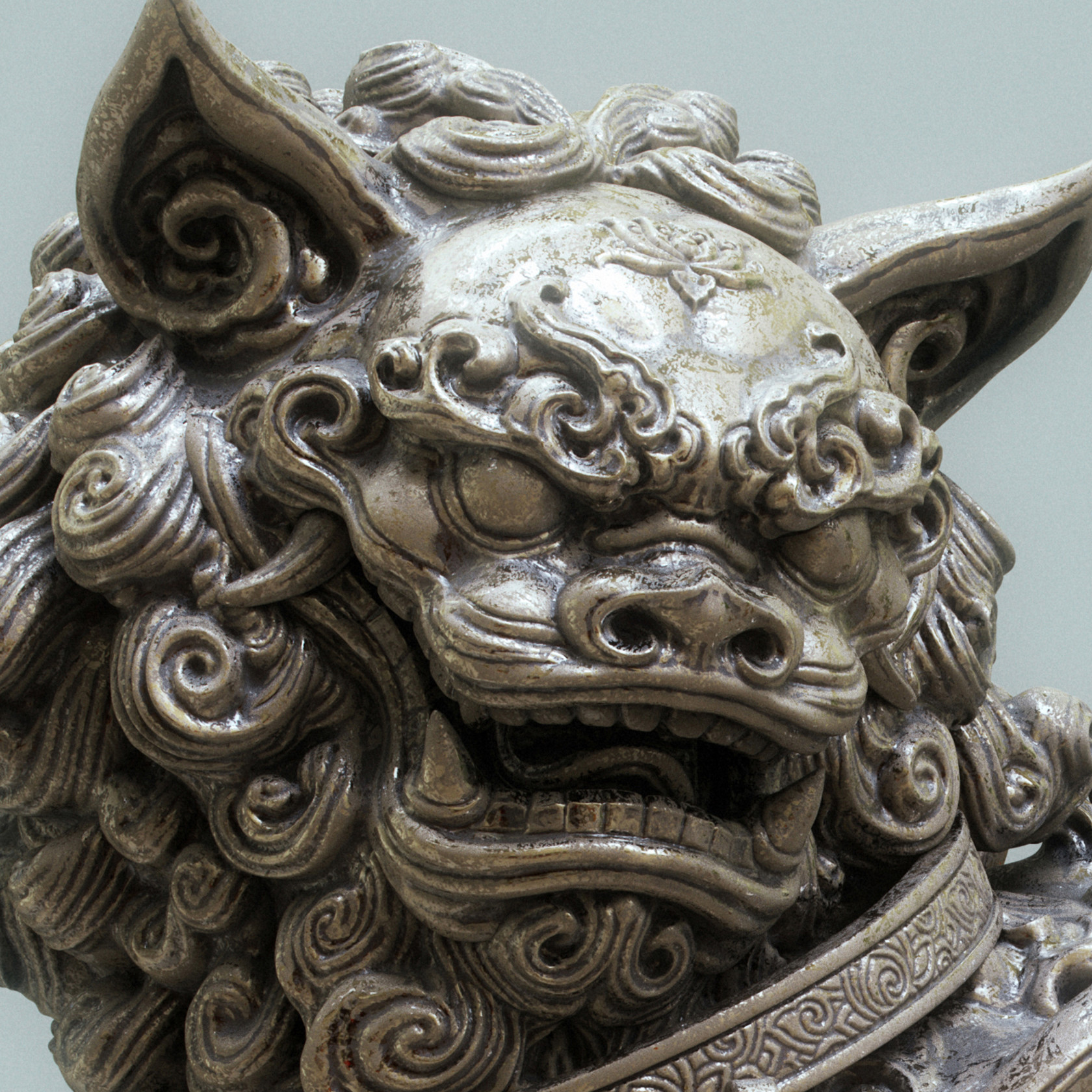 Zhelong xu lion1 detail1