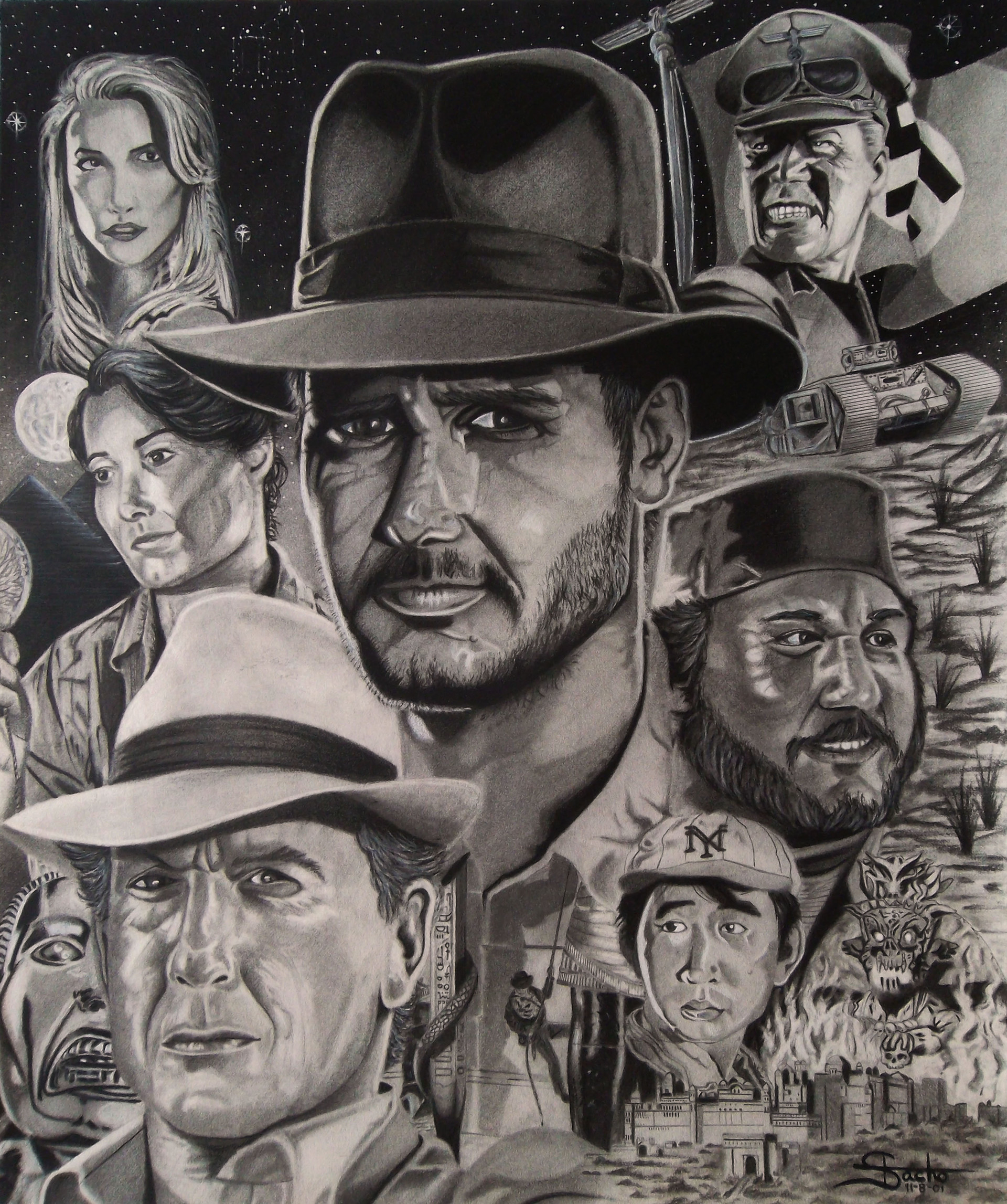 """The Indiana Jones Trilogy """"Raiders of the Lost Ark is, in my opinion, the best all around film ever made. From pre to post production, it was well written and directed with the perfect balance of humor, romance, action and adventure."""