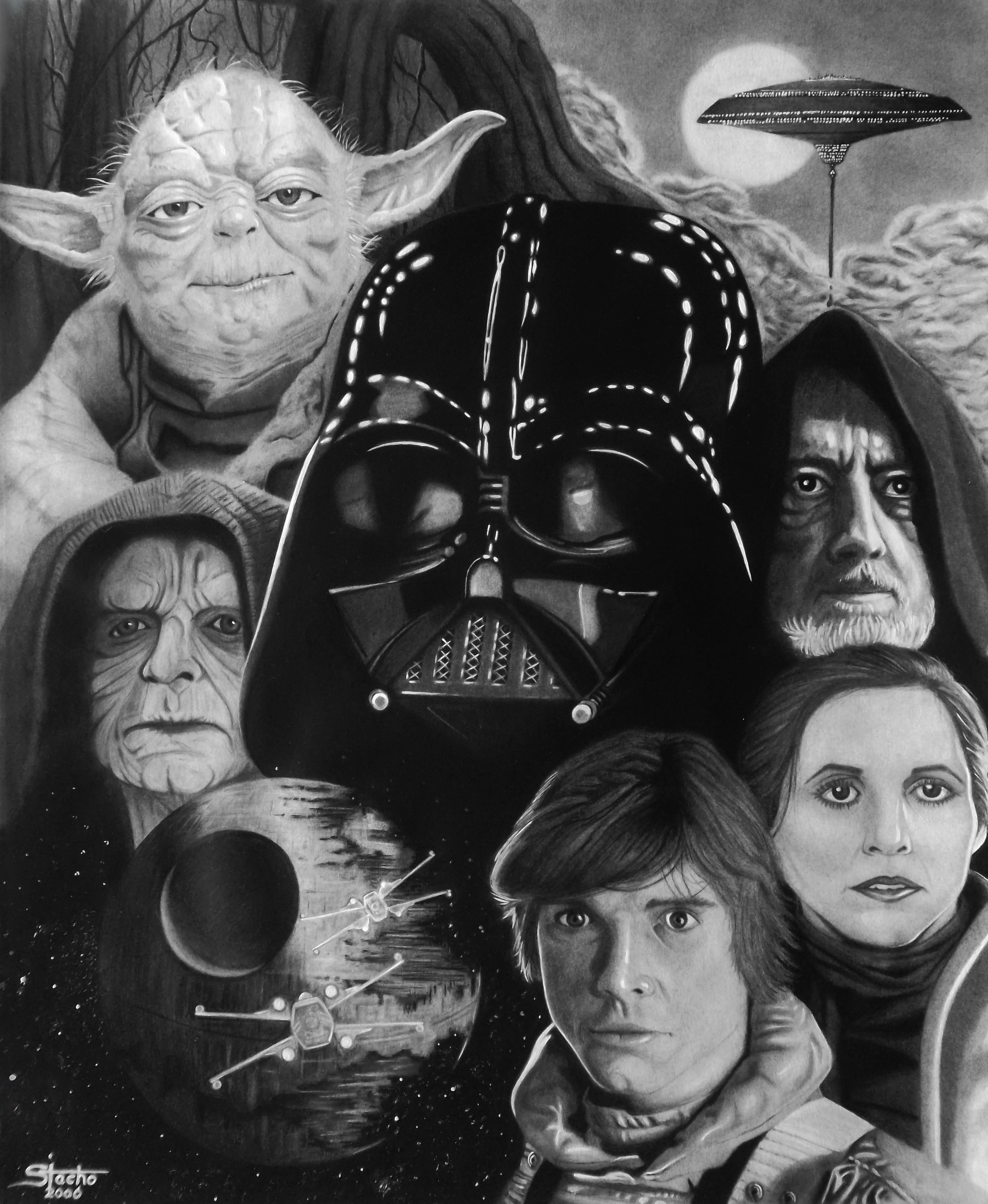 From a Galaxy Far, Far Away This was the first time I successfully drew a photo-realistic work of art.