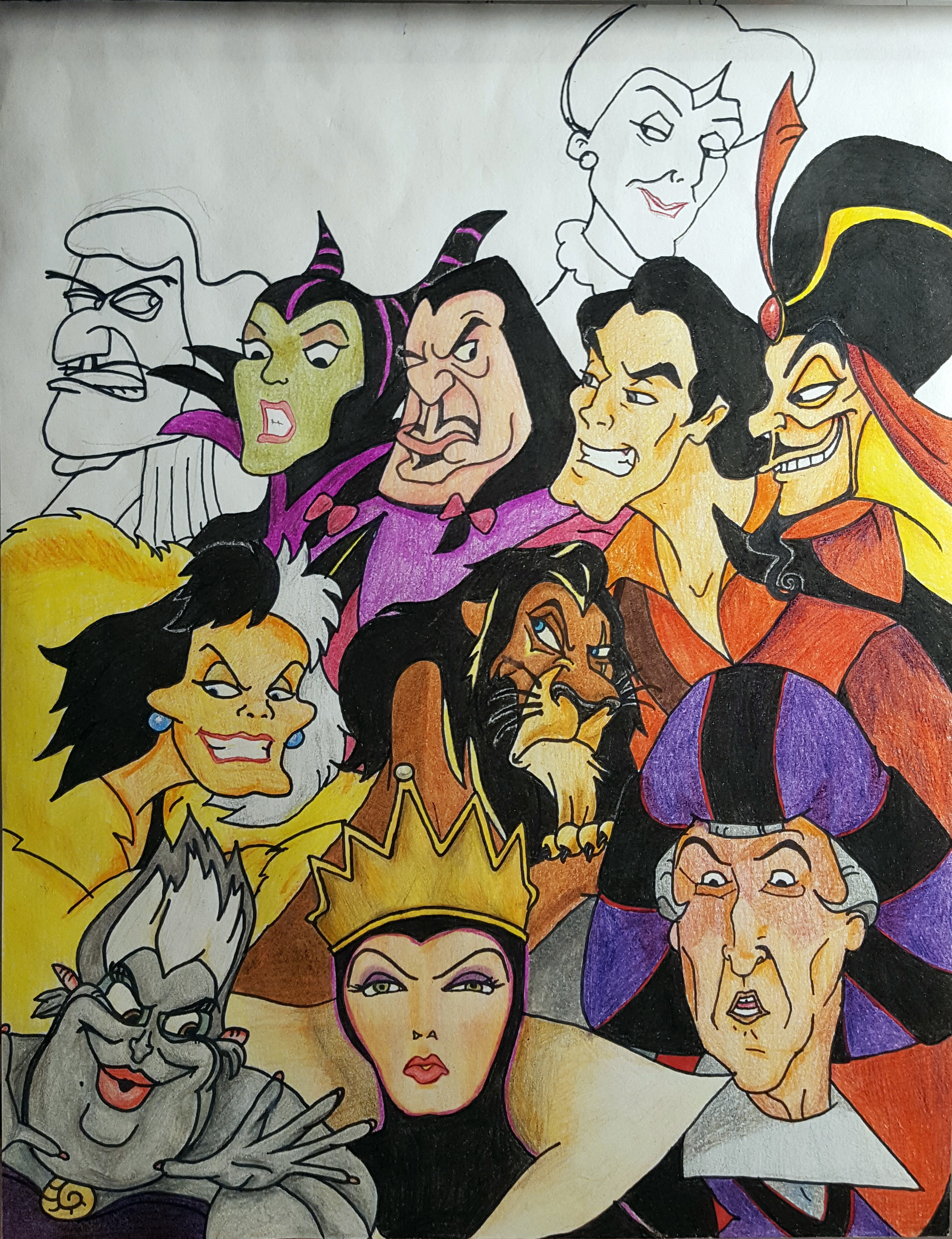 Disney villains; unfinished, obviously. Don't remember why I didn't finish.