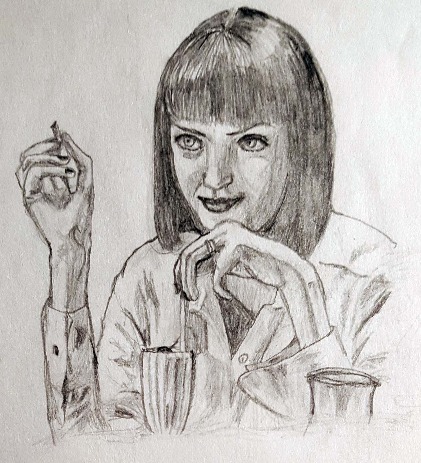 Mia (Uma Thurman).