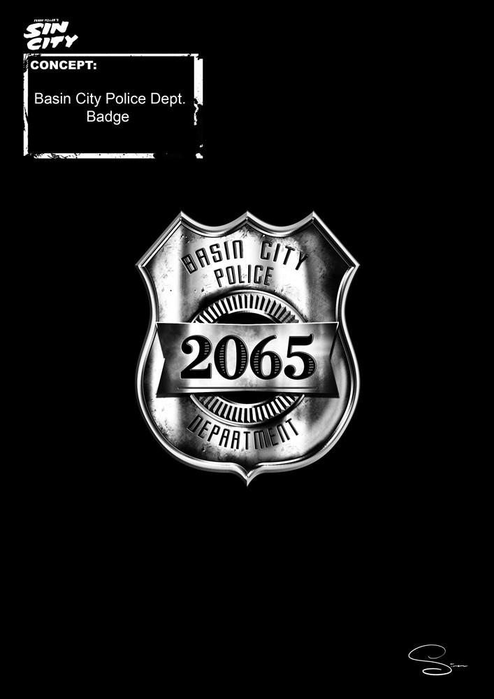 Simon lissaman sin city character concept police badge
