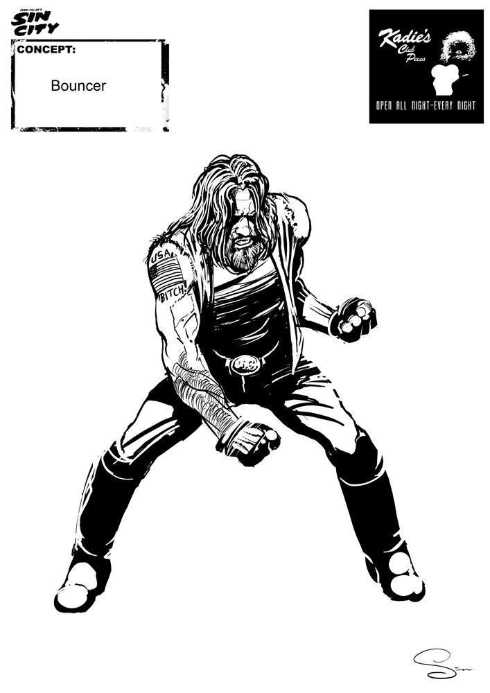 Simon lissaman sin city character concept kadie s bouncer2