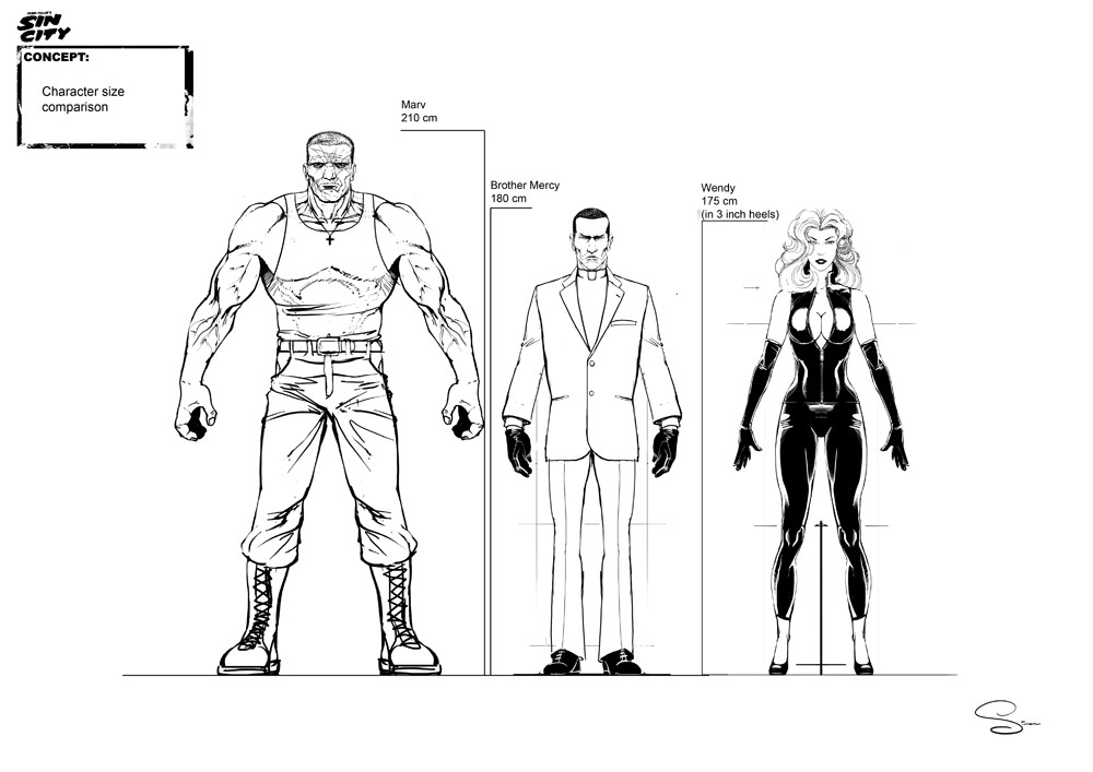 Simon lissaman sin city characters size comparison