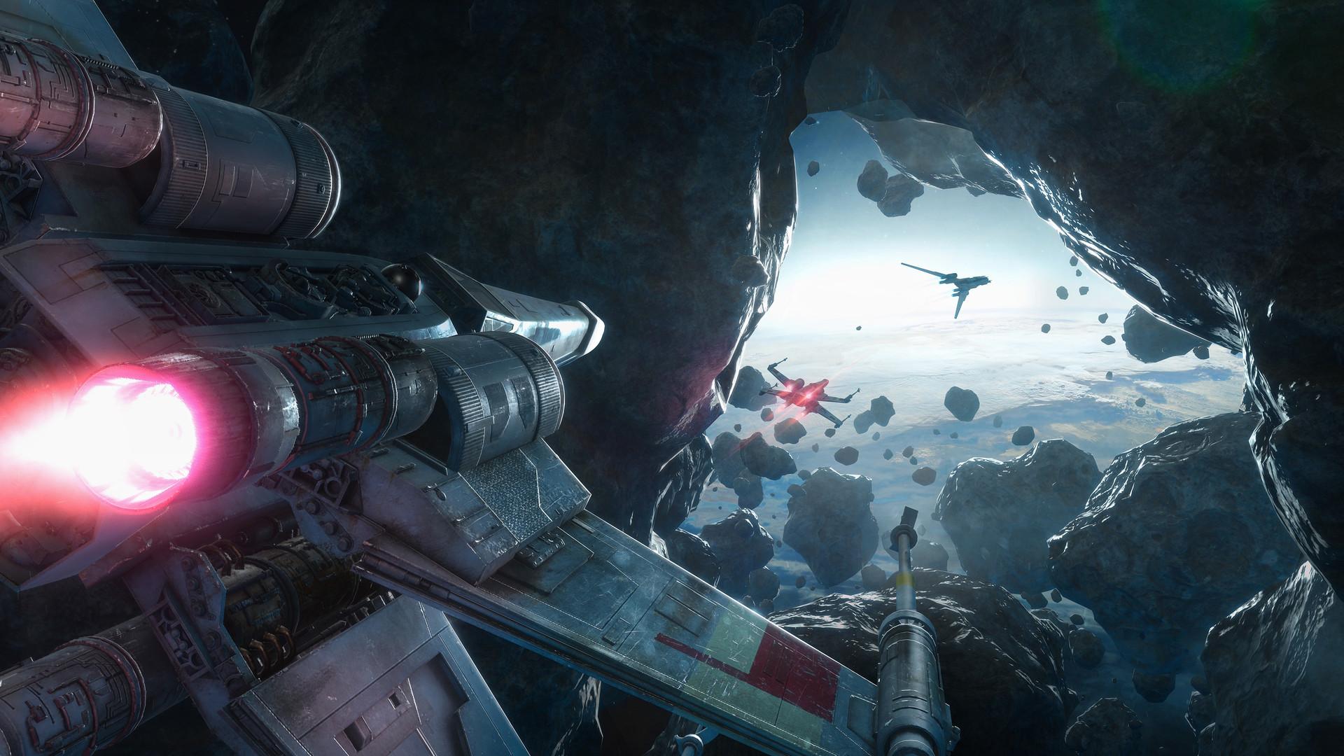 Darius kalinauskas starwars rougeone background xwing uwing asteroids