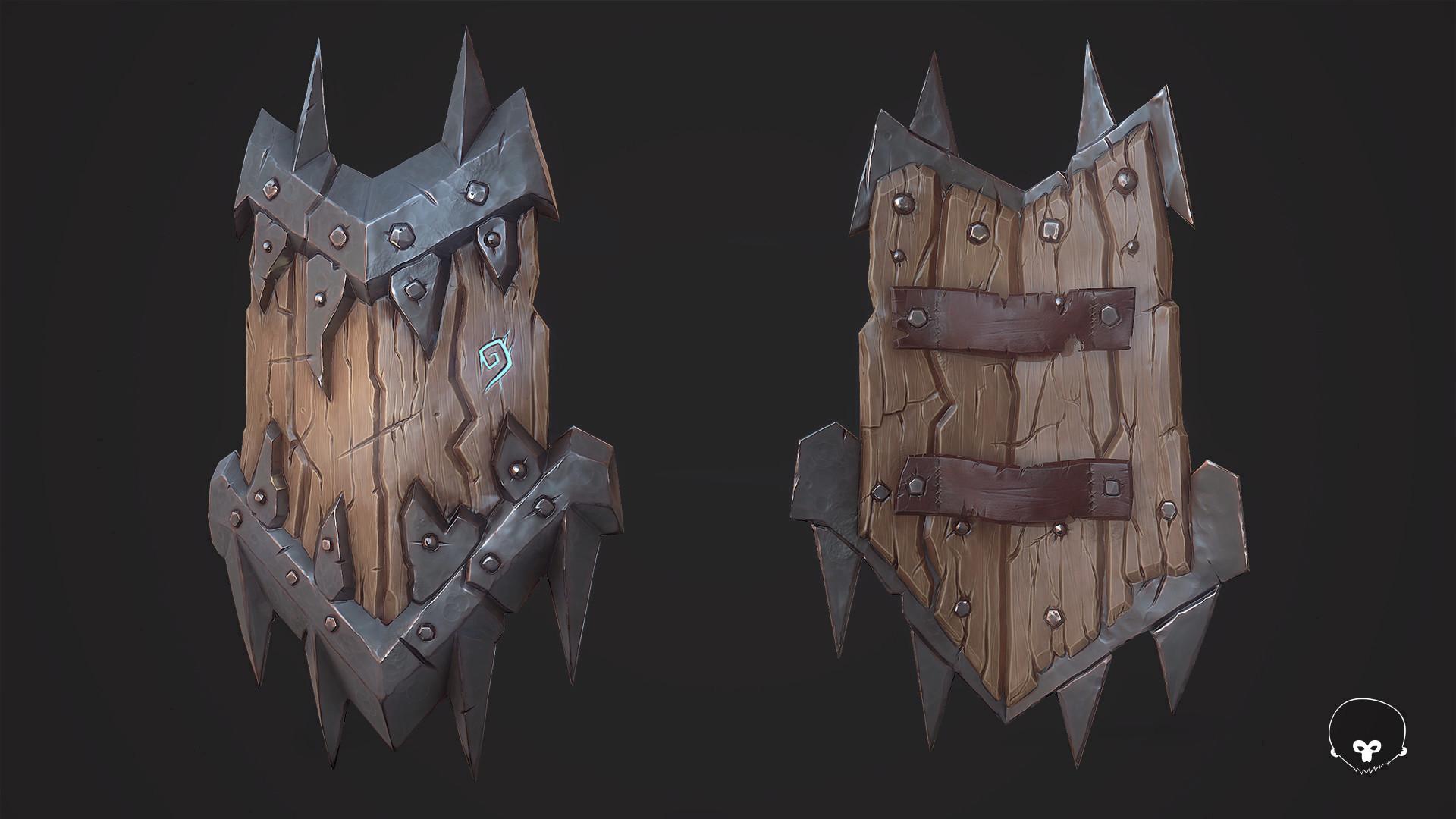 ArtStation - Orc Shield, Martin Mariezcurrena Alcasena