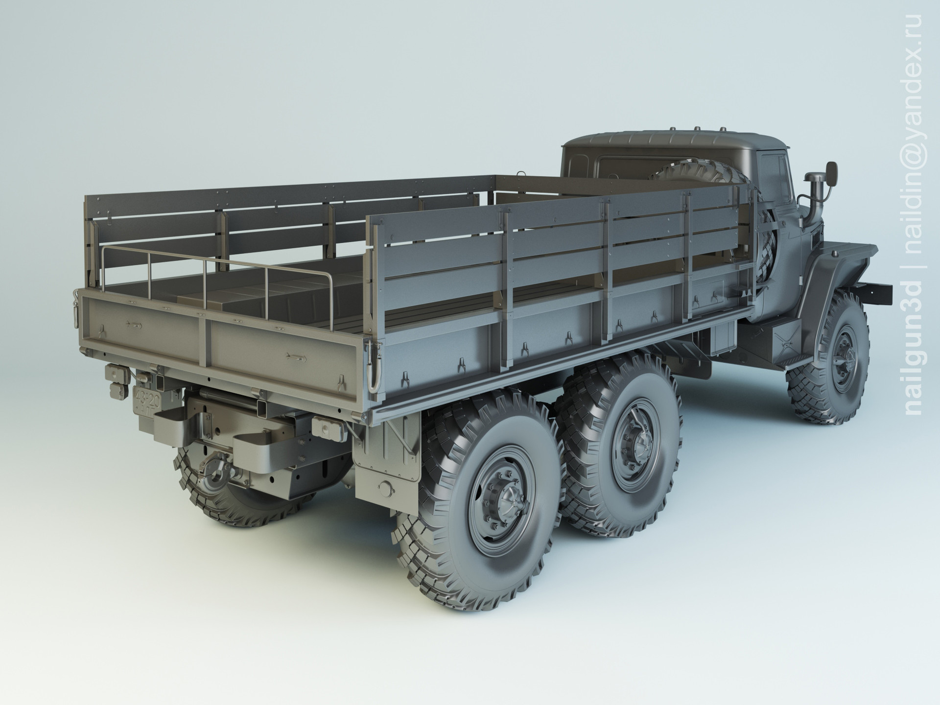 Nail khusnutdinov sal 007 006 ural 4320 modelling 1