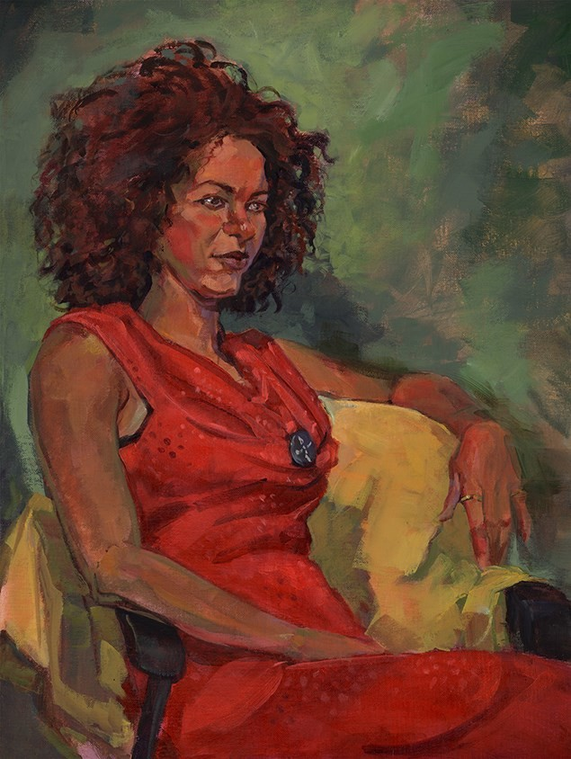 Paul mccusker sonja in a red dress