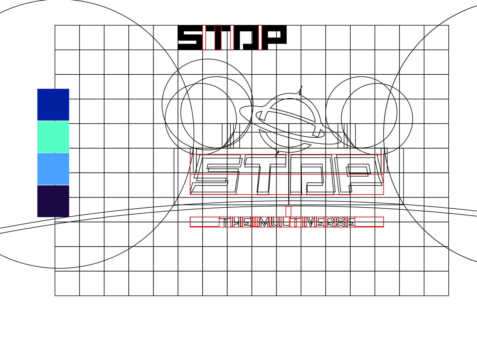 Inicio do projeto de logotipo - Cores e grid.
