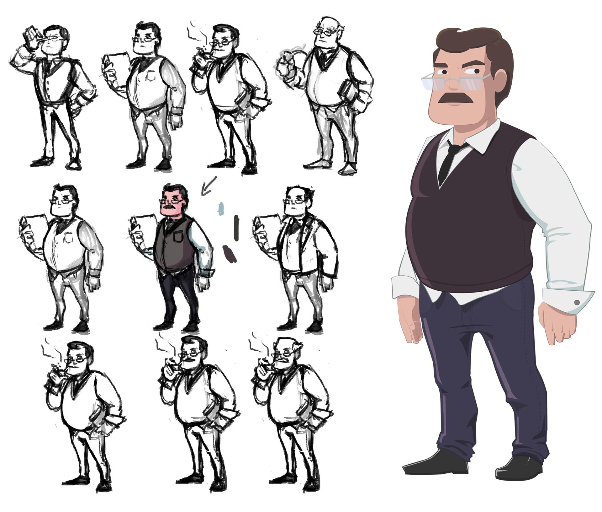 Felipe sanz professor sketch