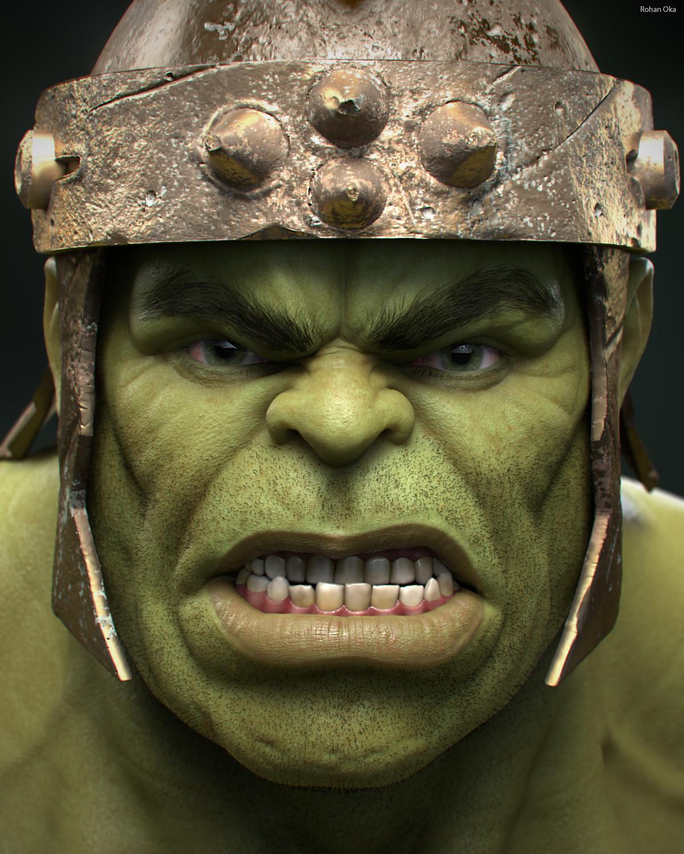 Gladiator Hulk - Head Closeup