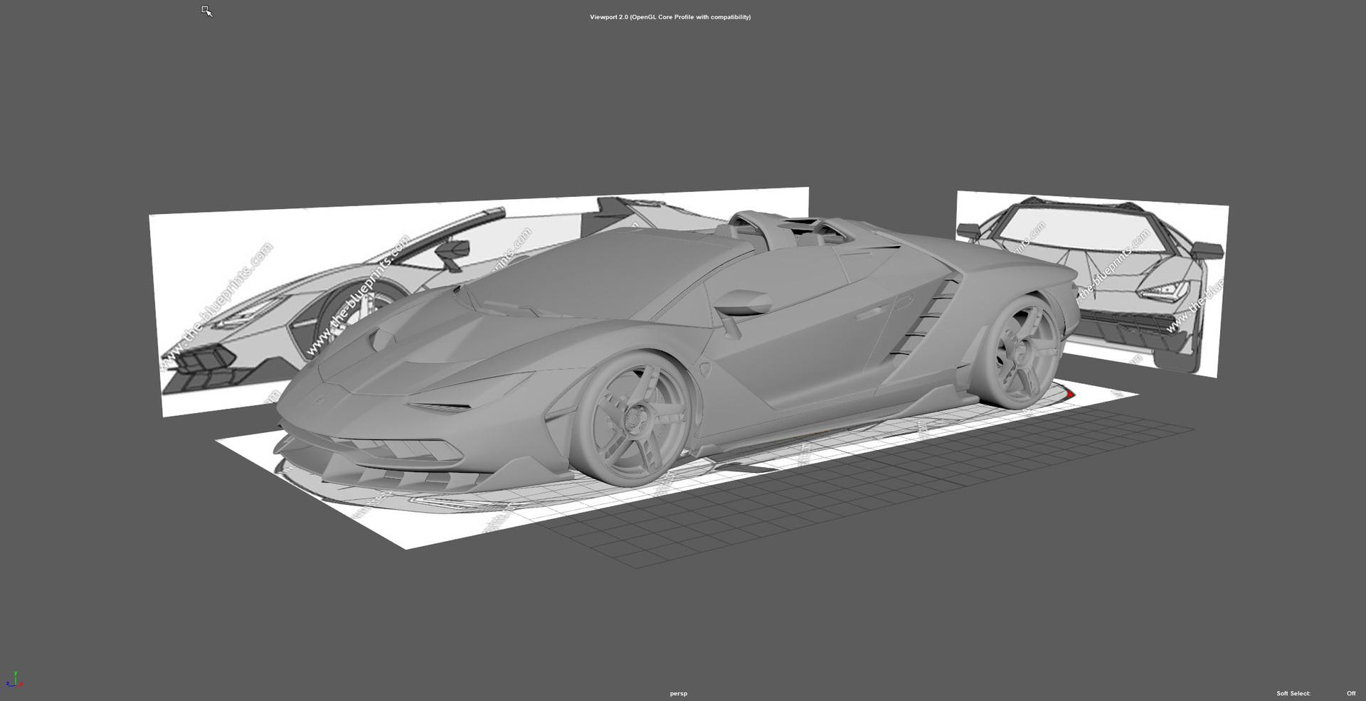 ArtStation - Lamborghini Centenario Roadster, Ali Hasan