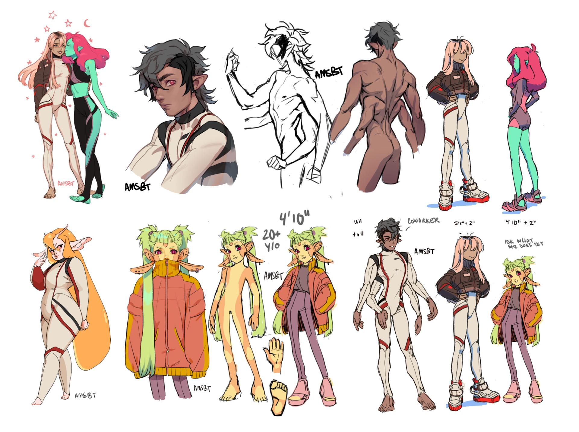 Character Design An Artist Resource : Manda schank various character designs