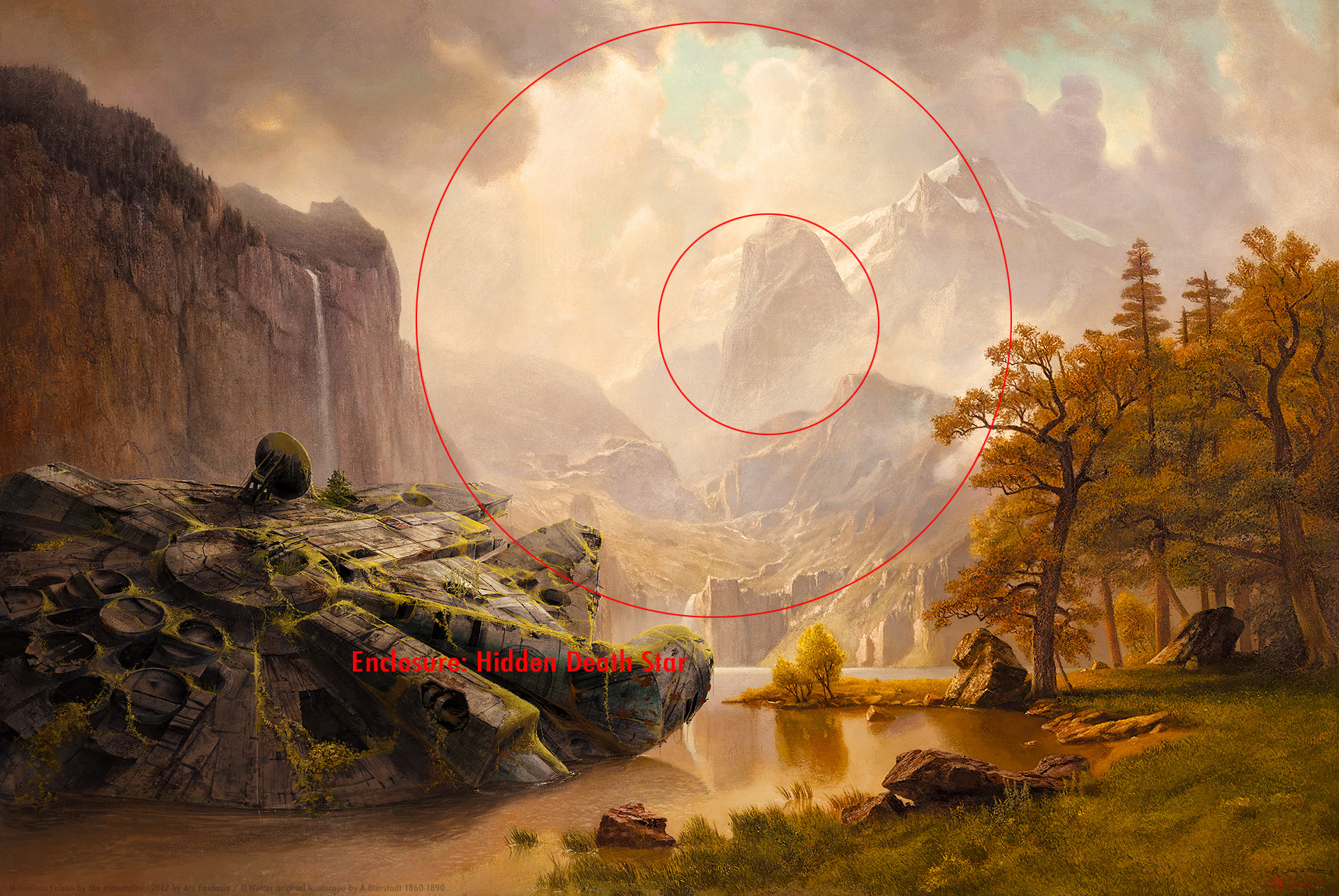 Oliver wetter composition findings death star 1920x1200px watermarked web abandoned millenium falcon at sierra nevada