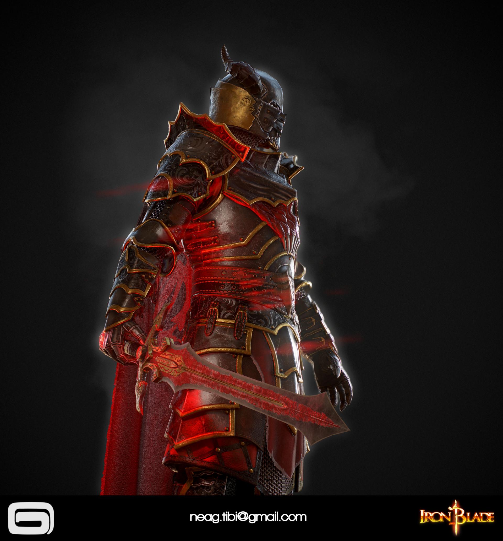 Tibi neag tibi neag iron blade mc armor 10c low poly 09