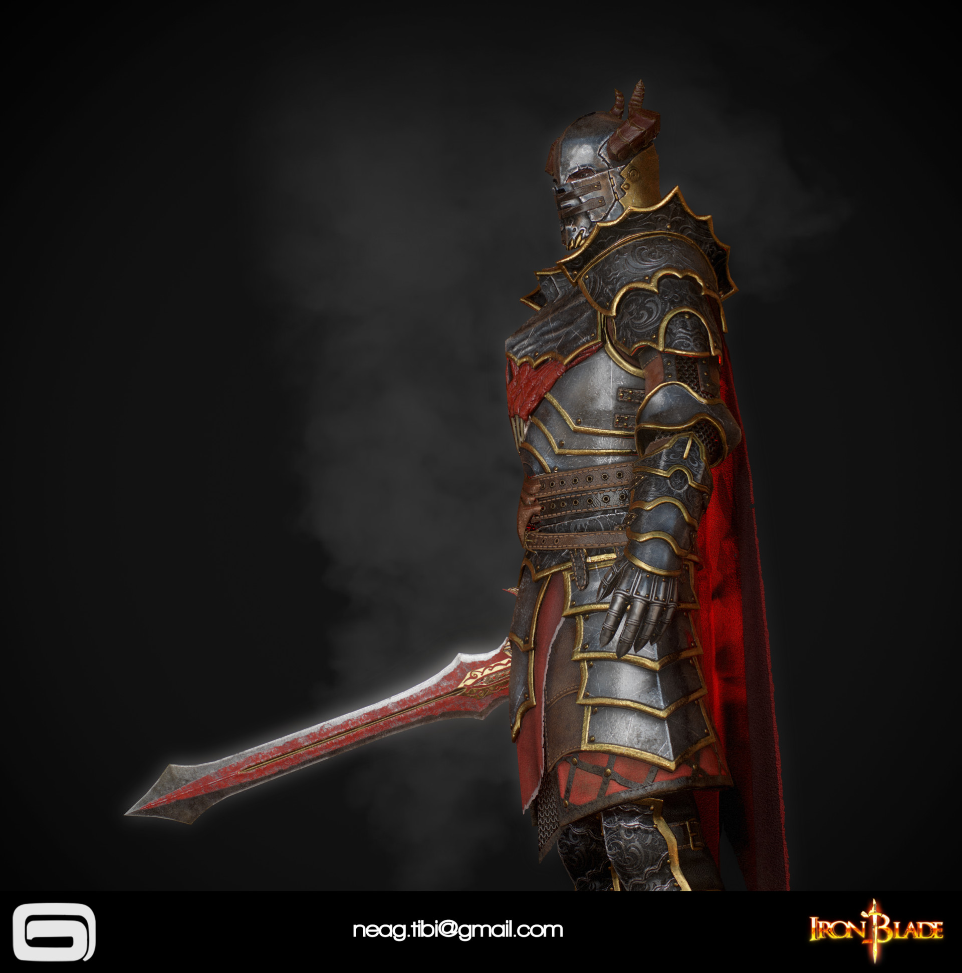 Tibi neag tibi neag iron blade mc armor 10c low poly 10